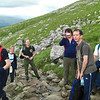 Seth, Nicci, Rich, Tim (with camera), Geoff and Andy on the flank of Carn Dearg above Lochain Meall an t-Suidhe
