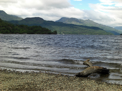 Beinn Ime and Ben Vorlich (I think) seen from Firkin Point on Loch Lomond.  Just don't ask me what the Firkin Point is, though!