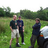 Rich, Seth and Tim during the loo stop at Firkin Point, on the way up to Fort William