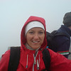 Nicci at Ben Nevis summit, Geoff behind admiring the view.  Unlike me, she looks like she enjoyed it!