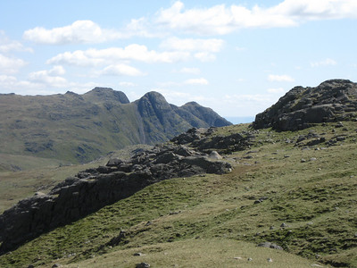 The Langdale Pikes from near Angle Tarn