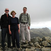Scafell Pike summit looking over to Crinkle Crags