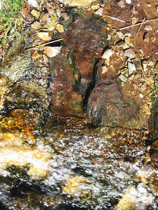 Pretty rock in a stream by Sprinkling Tarn