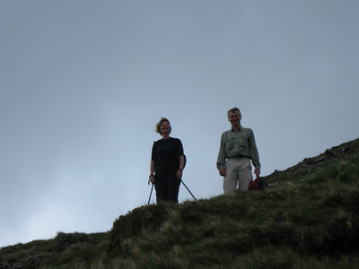 Angela and Martin on the slopes of Lingmell