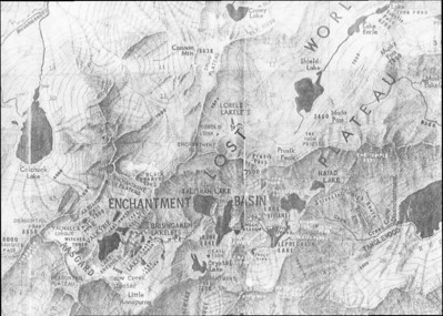 Another map I found of the Enchantments showing the old names of the lakes, as the Starks named them.
