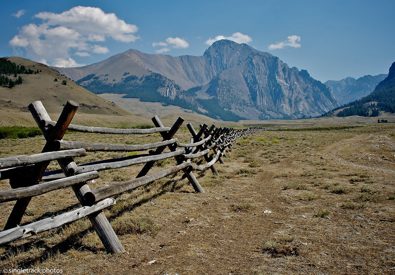 Fence line in the Pahsimeroi River Valley.