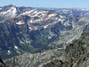 From just below the summit, a view of Spider Meadows and the Phelps Creek valley below us