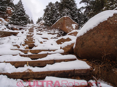 Manitou Incline Below False Summit