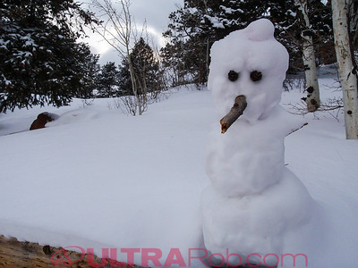 Snowman at top of Manitou Incline