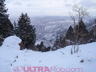 Colorado Springs from Summit of Manitou Incline