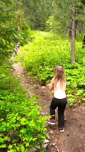 Little hiker girl