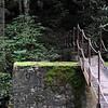 foot bridge across Thunderhead Prong built across the old railroad piers