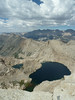 Columbine Lake and the Kaweah Range from Sawtooth Pk.