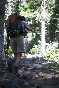 Steep trail.
