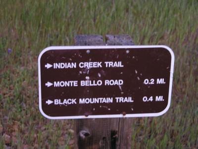 Monte Bello Ridge trail sign