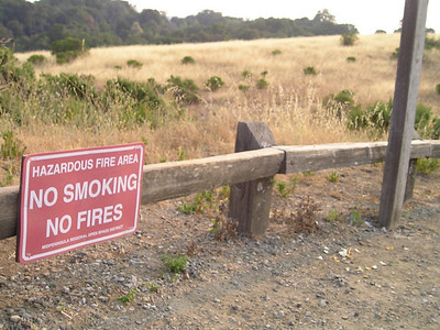 The smoky haze lent emphasis to this sign.