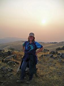 Here I am on Black Mountain; photo by Karin Zalec.
