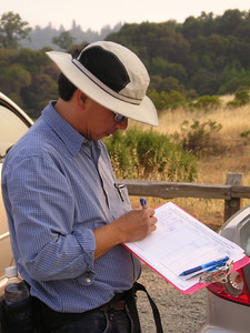 William again, signing in--which we all have to do on Sierra Club hikes.