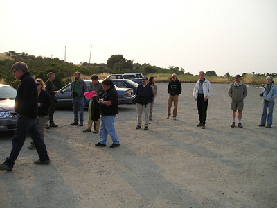 Gathering in the parking lot. Scott?,Barbara, Howard,?,Jack,Ruth,Bob,?,?,Bruce?,Max,Karin