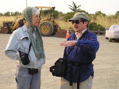 Karin and Bob share stories.