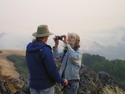 Karin photographs Denny from way up close.