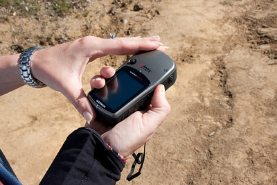 Barbara had her GPS along in case to help with her geocaching project.