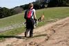 Barbara heads up the trail.