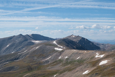 View South from Kuss - Gemini Peaks and Mount Sherman (14er) to the left
