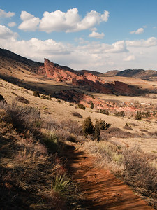 Red Rocks Park from Turkey Trot Trail in Mt Falcon Park