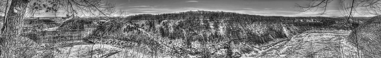 ~ Mount Morris Dam - Letchworth Winter METAL Panorama ~