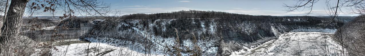 ~ Mount Morris Dam - Letchworth Winter Panorama 1 ~