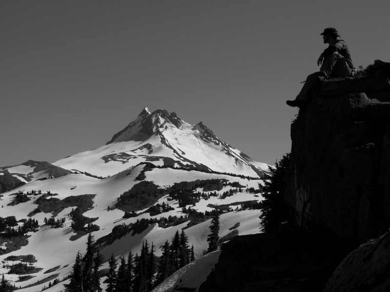 On a ridge with mt. Jefferson