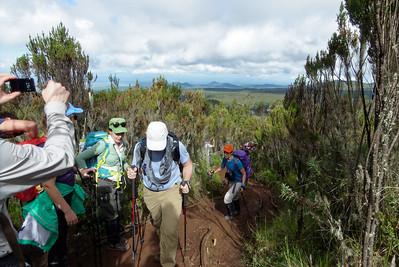 Trek Day 2:  Finally leaving the rain forest canopy.