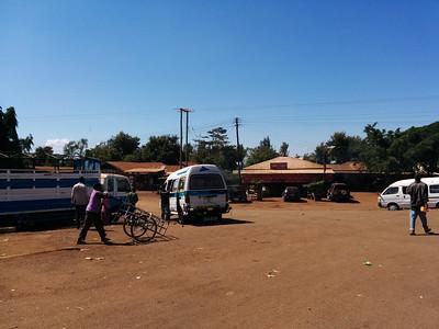On the way to the Lemosho Gate - it's a long drive...