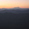 Mt Baker and cascade ranges in the soft & misty evening light
