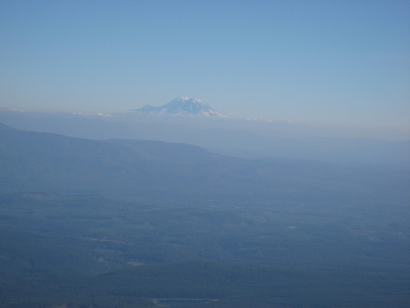 Mt Rainier is showing in the South