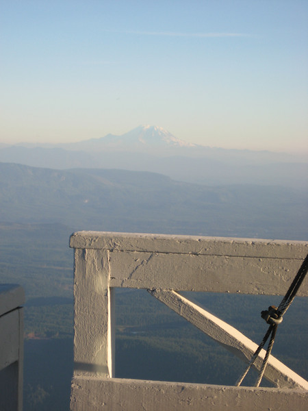 Mt Rainier again in the evening haze