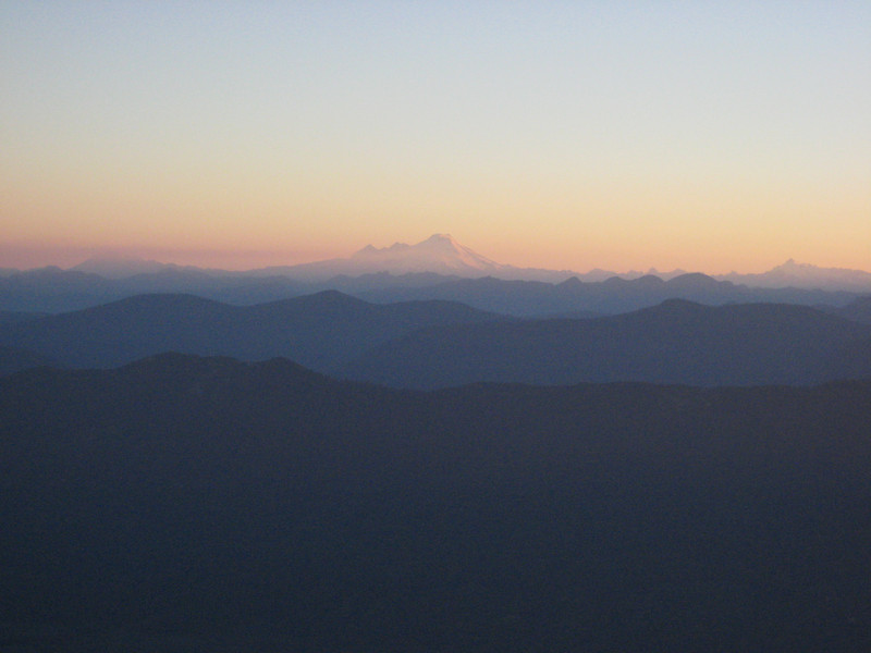 Mt Baker made it through the night, too