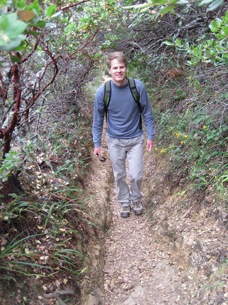 Paul and his coworker took two of the interns to Mt Tam. I joined them since we hadn't done this mountain, and it's the biggest mountain in Marin county (south of Sonoma and north of San Francisco)