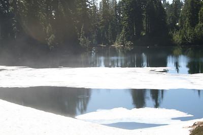 Still snow on Ridge Lake.