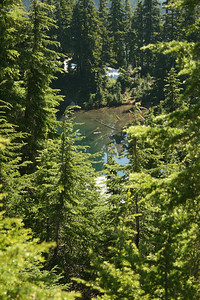 First glimpse of little Ridge Lake.