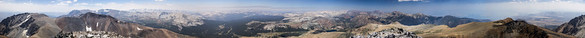 Full 360 degree panorama from the summit of Mt Dana