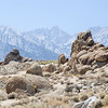 View of Mt Whitney through the smoke from Alabama Hills