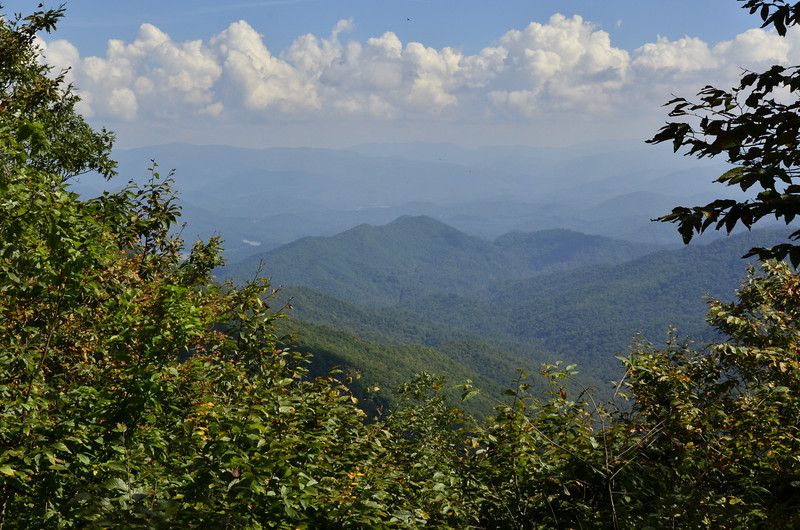 The Great Smoky Mountains<br /> Snowbird Mountains view in NC. Santeetlah lake is barely visible on the left.