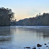 Looking, down river, at the Chattahoochee river.