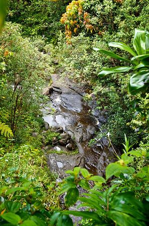 Arieal View of Ka'au Waterfall No. 2 Base