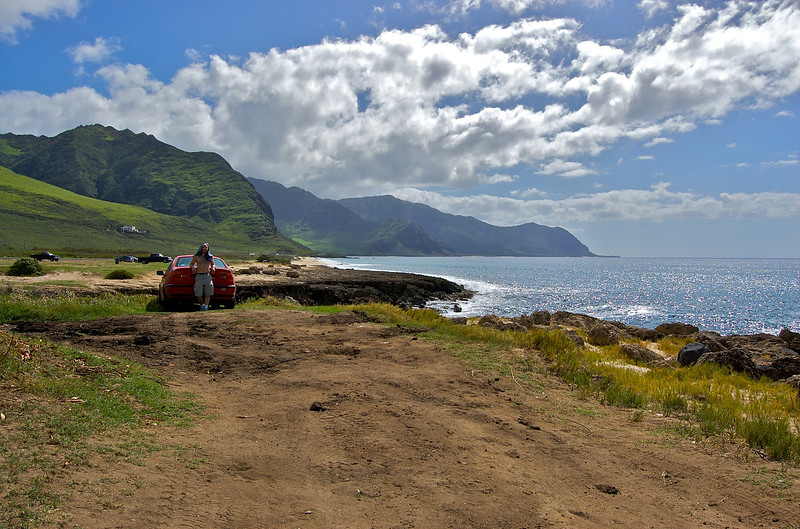The Beginning of Ka'ena Point South - Looking South along the West (Wai'anae) Coast