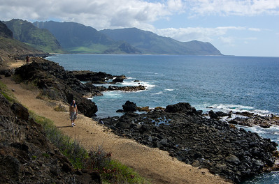 ~ Wanderer Coming Home ~  Ka'ena Point - South Trail Ka'ena Point Nature Area Resserve - the Western-most point of O'ahu