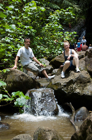 Maunawili Falls - The first mini-waterfall downstream of the Maunawili Falls  Tam & Anthony 2010
