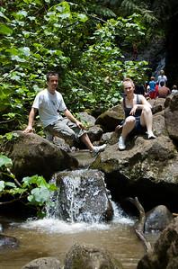 Maunawili Falls - The first mini-waterfall downstream of the Maunawili Falls  Tam & Anthony 2010